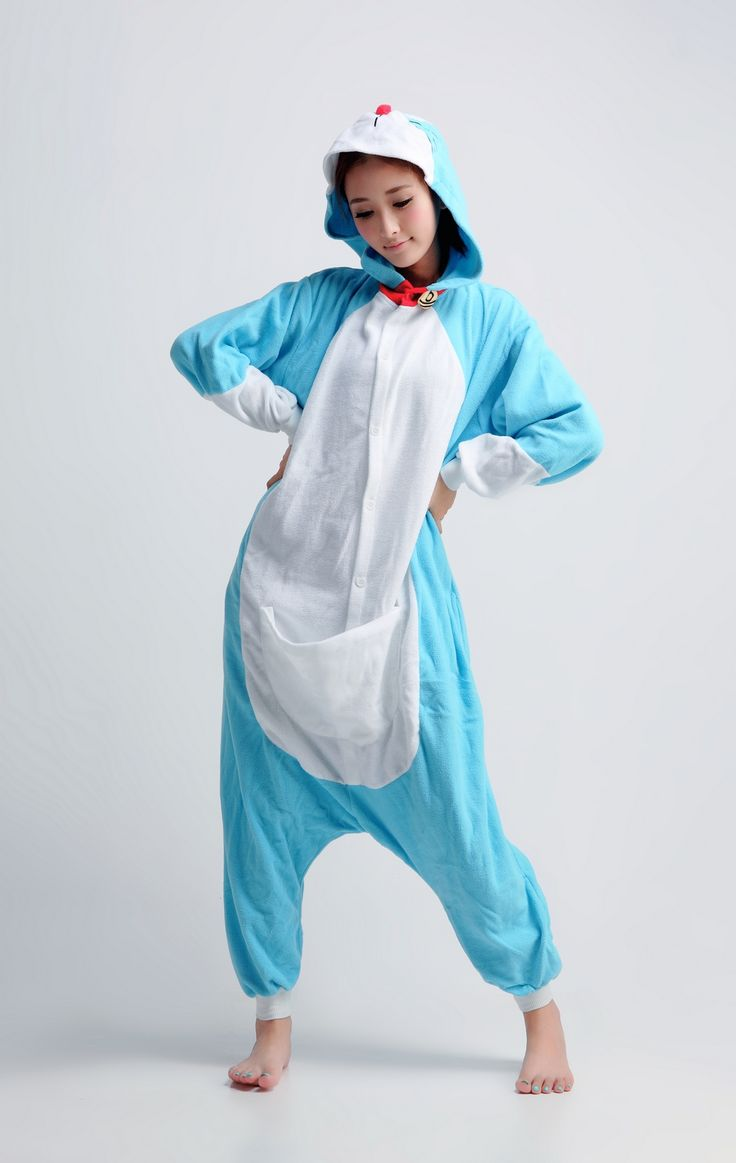 Want to have a magical pocket like Doraemon does? Where you can get anything you need at anyplace, anytime. Try looking like this majestic character with your own Doraemon character kigurumi onesie.