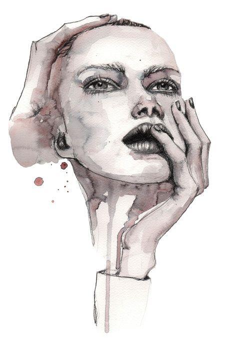 Leah  #illustration #painting #watercolor #fashion #drawing #portrait