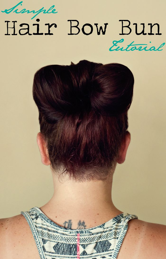 Simple Hair Bow Bun Tutorial  via www.hairsprayandhighheels.com