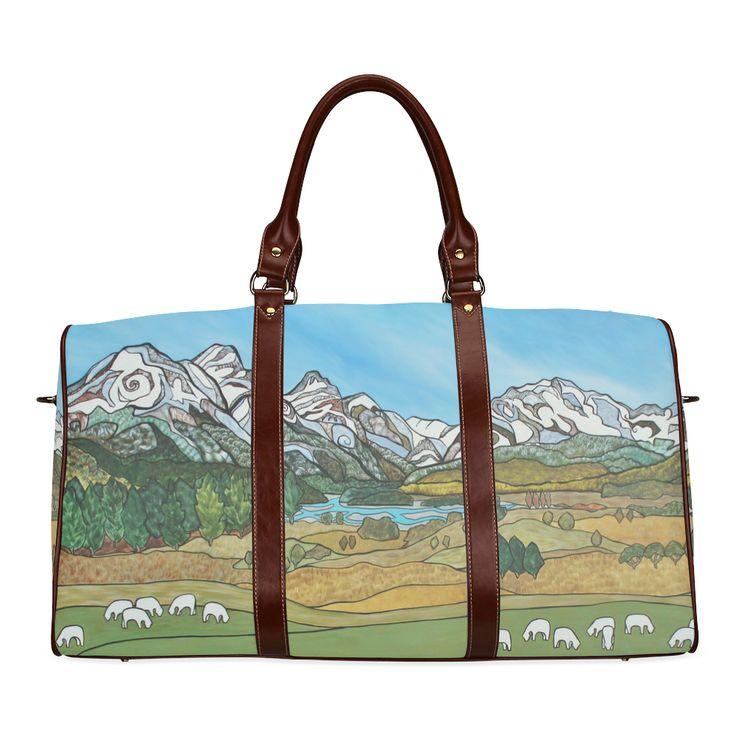 Pastures in Paradise Waterproof Travel Bag/Large (Model 1639)