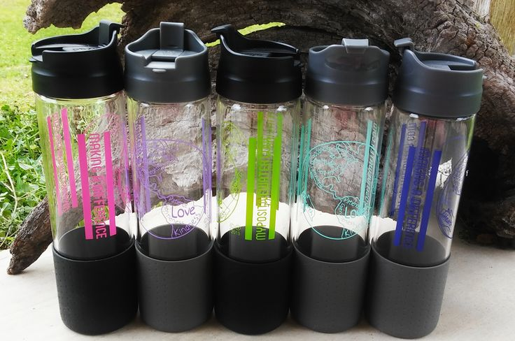 Best glass water bottle ever! These beautiful glass water bottles have POSITIVE words which create POSITIVE results!