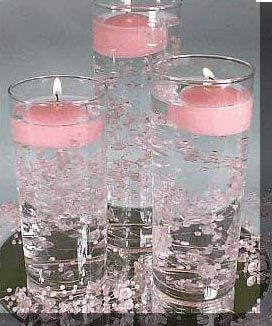 floating candles bead garland an inexpensive wedding centerpiece