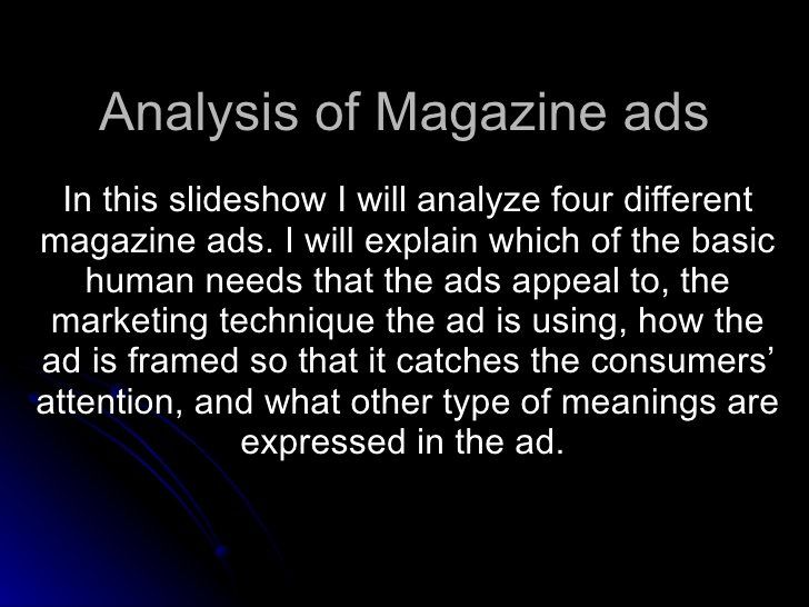 Advertisement Analysi Essay Sample Beautiful Of Magazine Ad Marketing Techniques Example