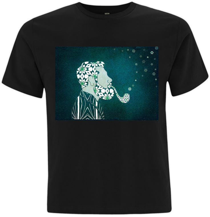 Dr Bluebeard's Magic Pipe: What's in the pipe Dr Bluebeard? (3D Tshirt)This TShirt is 100% organic and and fabricated using low-energy consumption machines, renewable located generated power.Material: 100% Organic CottonWeight: 155 GSM