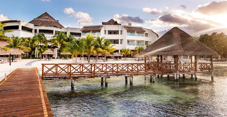 Get married under this romantic pier gazebo on the Caribbean at Isla Mujeres Palace in Mexico | Palace Resorts Weddings ®