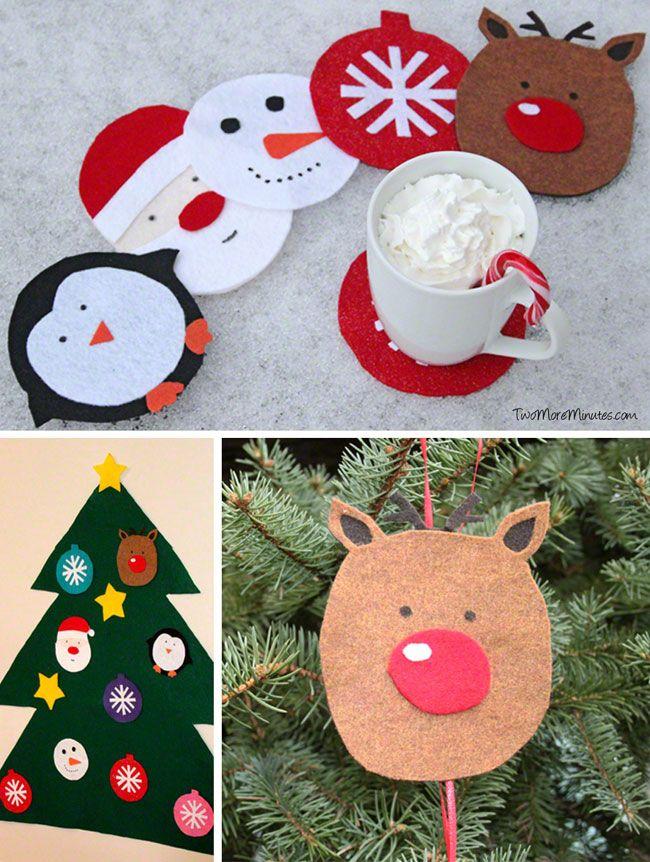 75 best santa patterns images on pinterest christmas for Felt christmas crafts for kids