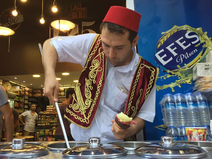 Turkey's one-of-a-kind ice cream served by playful vendors with tricks and flips.
