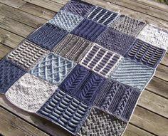 Free knitting patterns for afghan sampler squares 2009 Afghan
