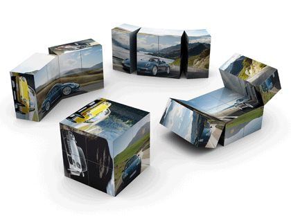Magic Cube8 Faltwürfel - Touchmore - Haptische Verkaufsförderung und Markenkommunikation