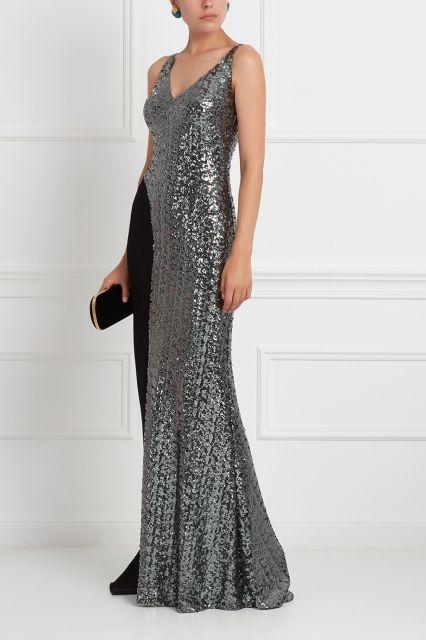Платье с пайетками Chapurin - Безупречный выбор для важного светского события: роскошное платье в пол из коллекции знаменитого российского бренда Chapurin в интернет-магазине модной дизайнерской и брендовой одежды