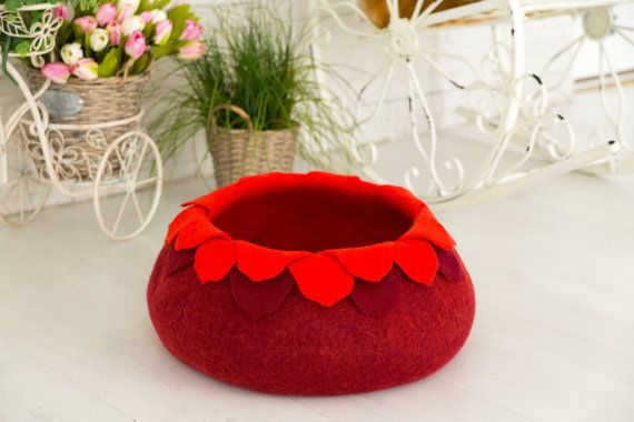 Pet bed ,cat bed,cat cave,puppy bed ,cat house, pet furniture , cat nap cocoon,  Christmas gift