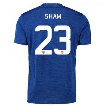 Manchester United 16-17 Luke Shaw 23 Bortatröja Kortärmad   #Billiga  #fotbollströjor