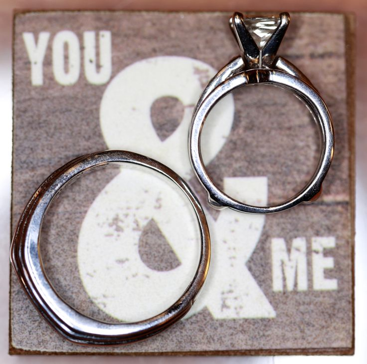 """""""You and me"""" wedding rings."""