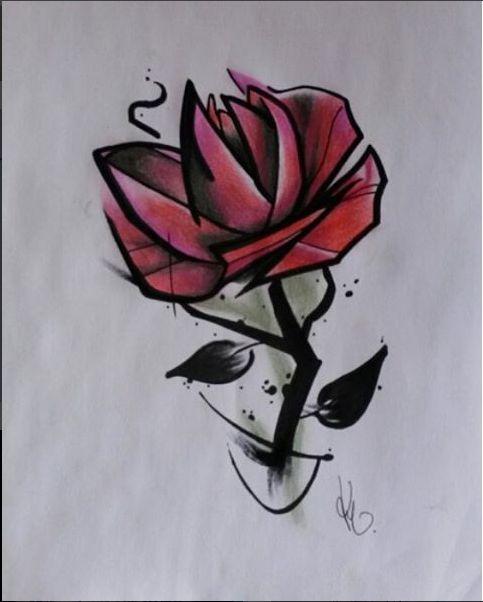 Rose Design Artist: Kegan Neuper.  Style Ink Tattoos