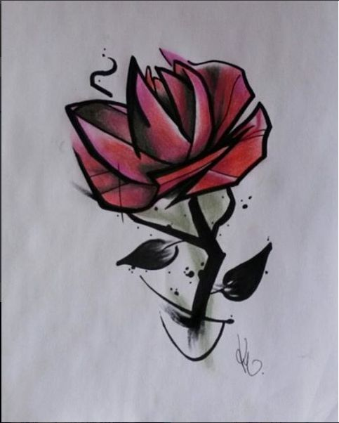 Rose Design Artist: Kegan Neuper.  Style Ink Tattoos