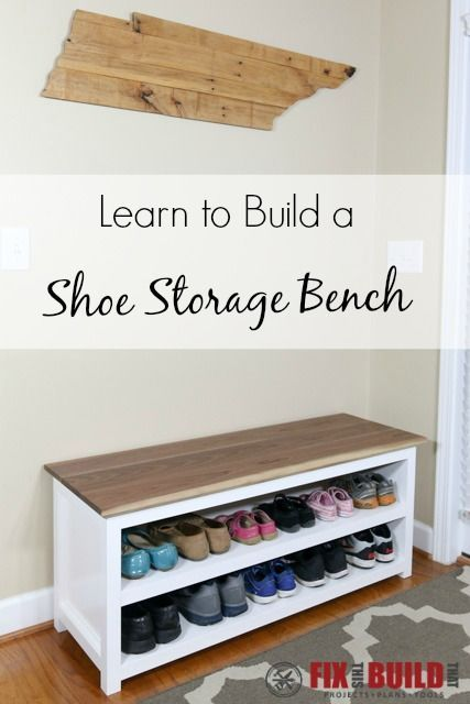 DIY Entryway Shoe Storage Bench Part 39