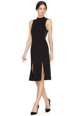 EVELIN FITTED DOUBLE SLIT DRESS by Alice + Olivia