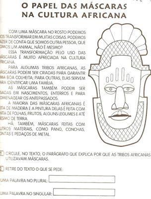 Pedagógiccos: Máscaras africanas - Dia da Consciência Negra