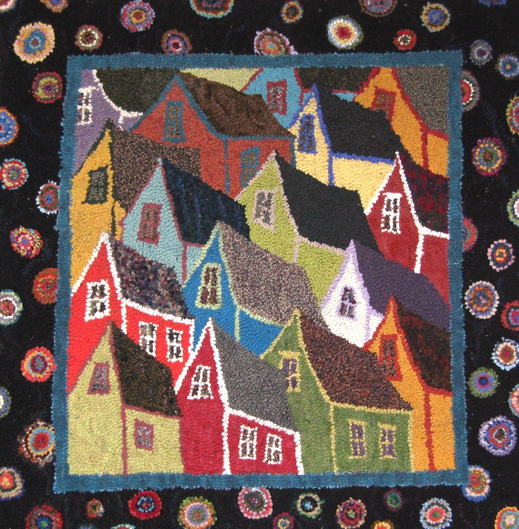 gathering fabric for rug hooking | Deanne Fitzpatrick