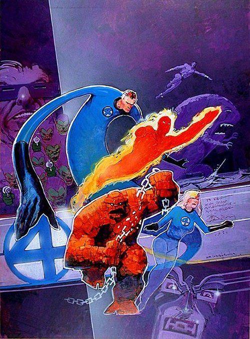 Fantastic Four by Bill Sienkiewicz
