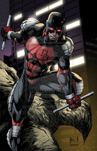 Daredevil Reboot Costume Armored Daredevil colo...