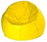Yellow bean bag chair.  My brothers and I used to pile up on this and watch TV and play Atari.