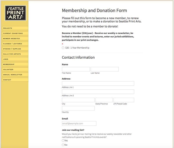 20 best Online Donation Form Examples images on Pinterest Online - membership forms templates
