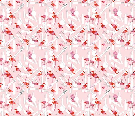 A rather kinky design- bright pink flamingos amongst spanking paddles- who says love and spanking can't marry together beautifully?