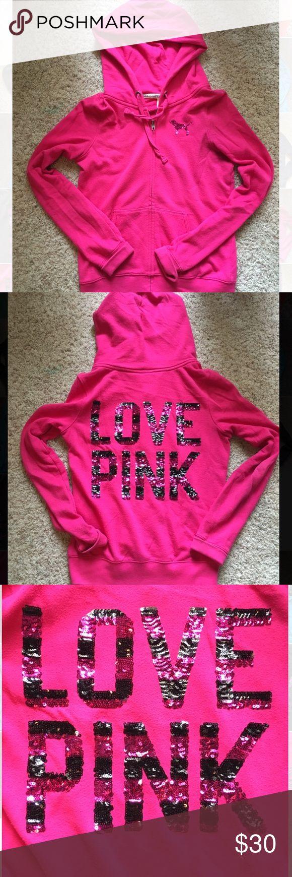 Victoria's Secret PINK zip up Iike new condition PINK Tops Sweatshirts & Hoodies