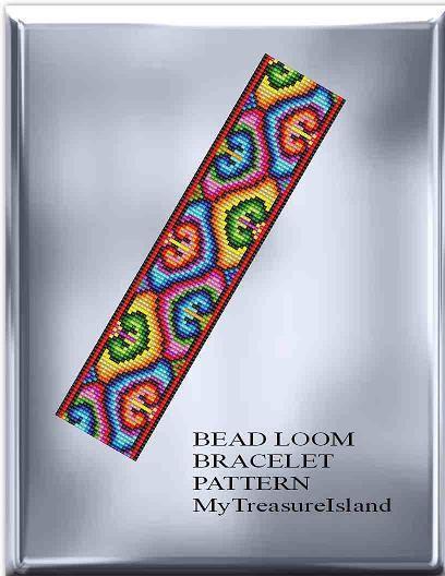 Bead Loom Pattern Hearts Vintage Motif Bracelet Pattern PDF