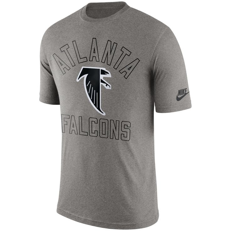 Nike Atlanta Falcons Heather Gray Retro Logo II T-Shirt