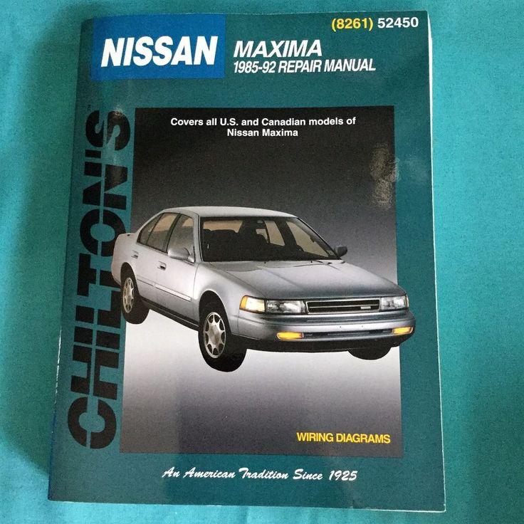 1985-92 Chilton's Repair Manual Nissan Maxima Sedan #52450 #8261 0801982618 GUC #Chilton #ChiltonsManual #NissanMaxima