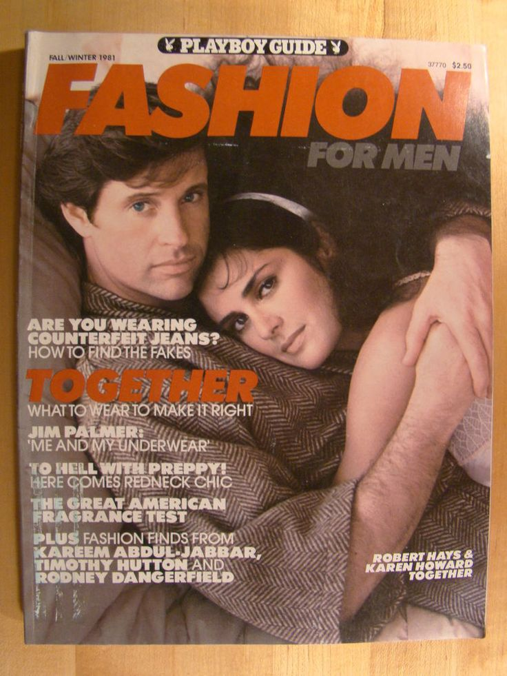 playboy #magazine fashion for men fall 1981 guide robert hays karen howard from $3.99
