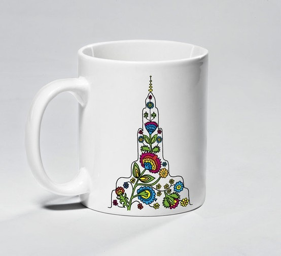 Mug - Folk Palace - Souvenir from Warsaw. The mug with the Warsaw motif is a perfect gift for someone special or to treat yourself. $35 zł.