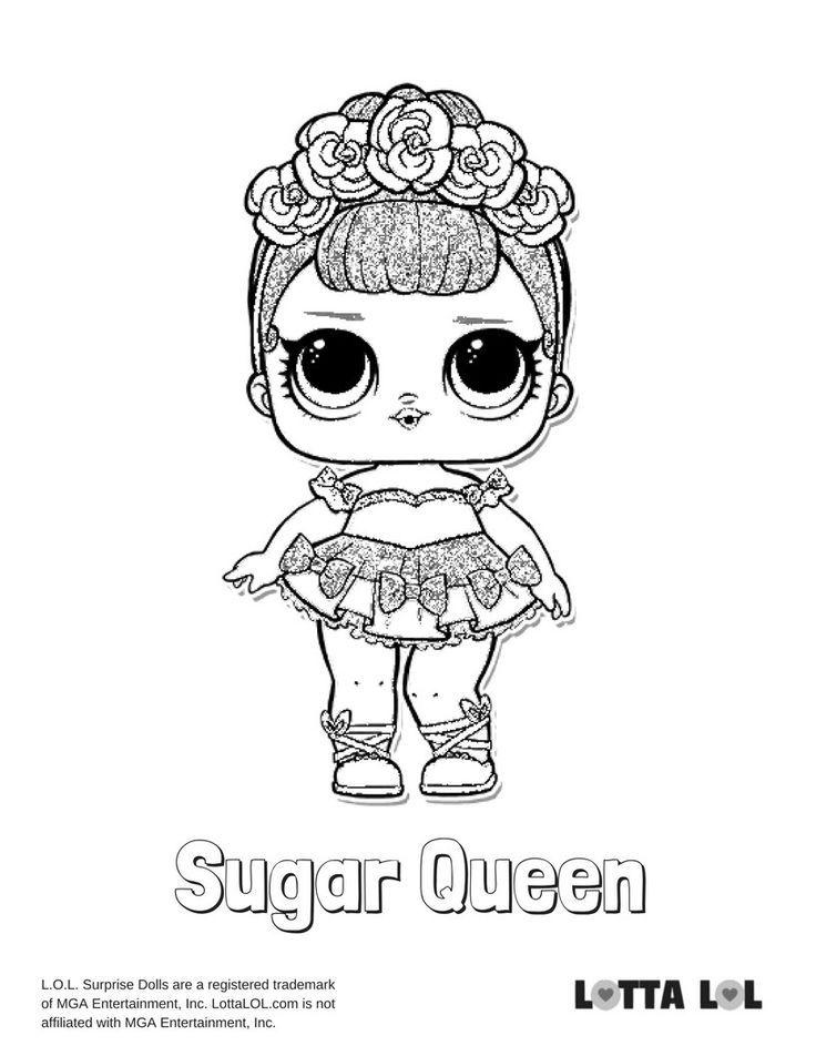 Sugar Queen Coloring Page Lotta Lol Em 2020 Com Imagens Desenhos Para Colorir Desenhos Para Pintura Desenhos