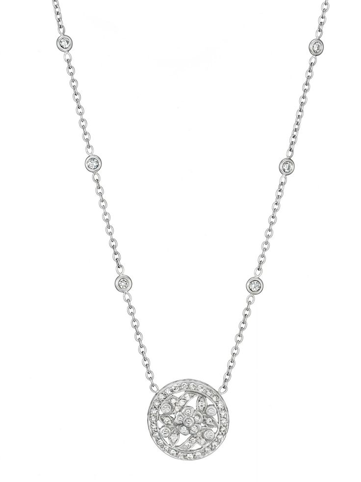 Penny Preville 18k White Gold Garland Diamond Necklace at London Jewelers!