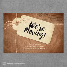 Moving Announcement We Moved Cards I'm Moving by SweetHammerPress