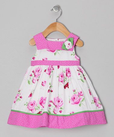 Take a look at this Pink Strawberry Dress - Infant, Toddler & Girls by Donita on #zulily today!