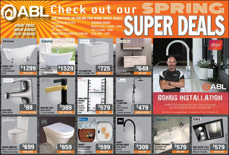 Have you picked up your copy of The Western Weekender? Don't forget to check out our Spring super deals, come in and see us in store or shop online #youronestoprenovationshop #whenqualitymatters