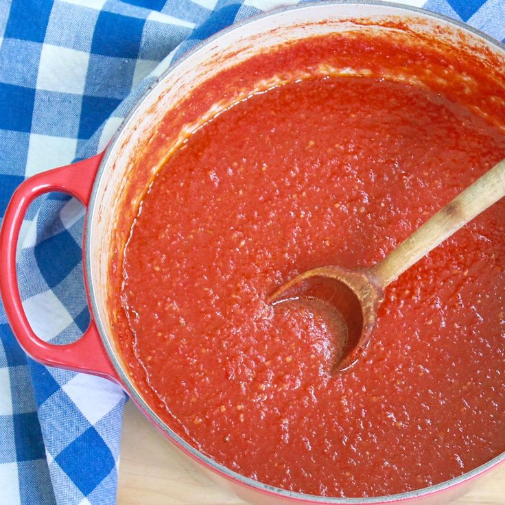 Shortcut Blender Tomato Sauce -- just made the recipe with all grape tomatoes and got nearly 3 quarts of luscious sauce!