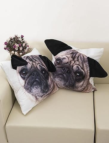 SAVE 40% OFF YOURORDER TODAY✓ Get CosyWith This Cute Pug PillowCover ONLINE EXCLUSIVE - Not Available In Stores Perfect For Your Home, Bedroom & Living
