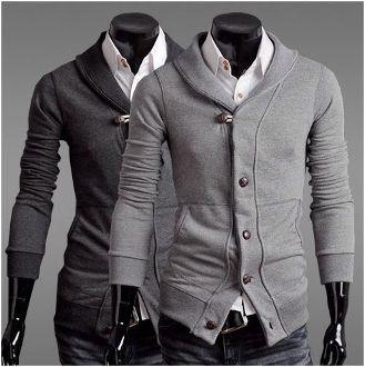 Men's Slim Fit Shawl Collar Cardigan.