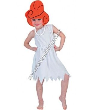 Disfraz de Wilma Picapiedra para niña. #Disfraces #Carnaval www.casadeldisfraz.com