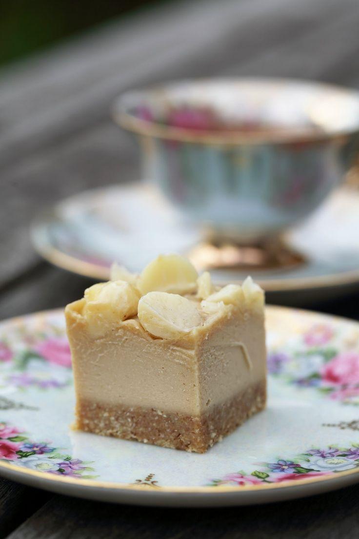 SALTED CARAMEL MACADAMIA SLICE with YouTube video - healthy, raw, dessert, sweet treat, gluten free, dairy free, vegan, paleo 7