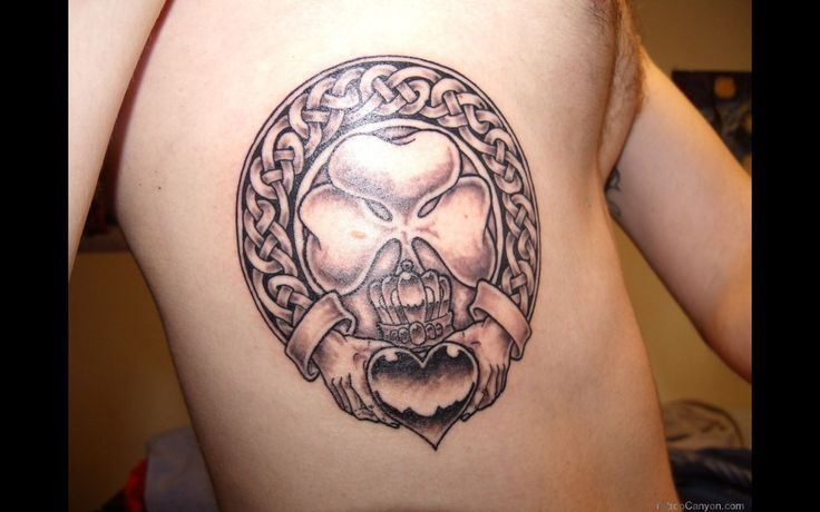 Claddagh Ring Tattoo Design 5302 claddagh tattoo on back