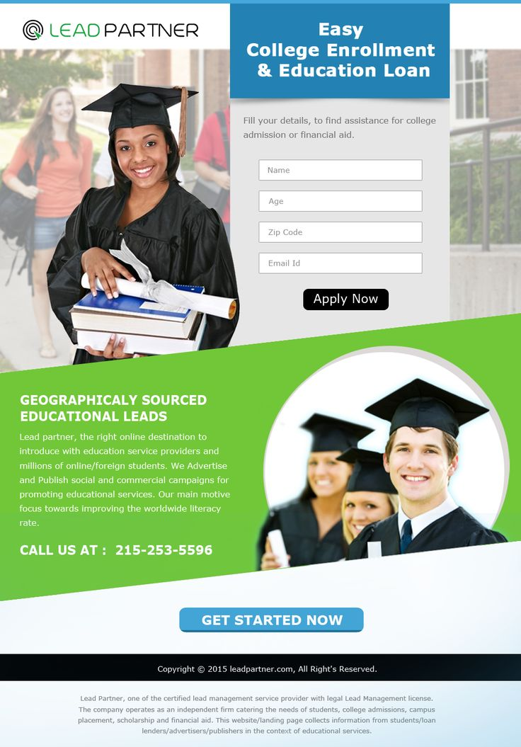 Education Landing Page 2