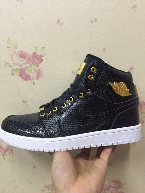 quality design c6fdc c682a Free Shipping Only 69  Air Jordan 1 one Pinnacle Black Gold In The Hand