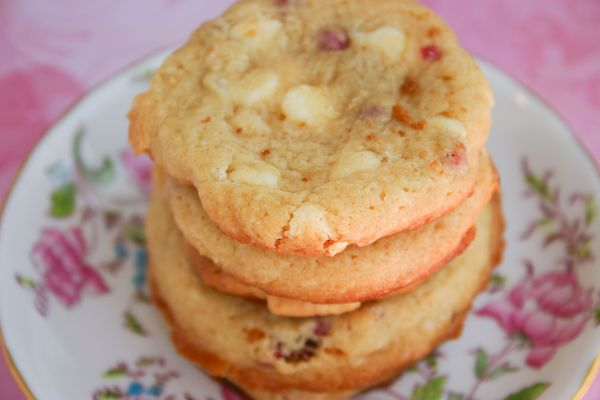 I have made these cookies twice now, and they are sooo tasty! Subway Raspberry Cheesecake Cookies with white chocolate chips from Bakergirl.