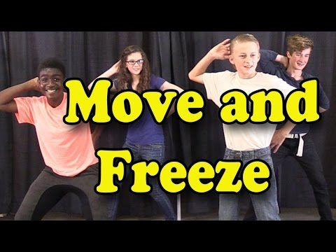 """Move and Freeze"" (with lyrics) is a great brain break, action song to make it easy and fun to take a quick energy break. This movement song is also great for circle time, morning meeting, group activities or those bad weather days when children can't go outside to play. It's ideal for preschool through elementary."