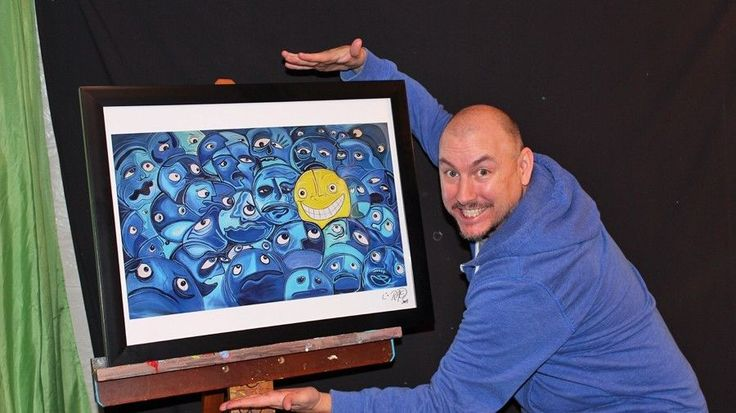 """NEW! Shaytards HAPPINESS IS A CHOICE Poster 18""""x24"""" HUGE! ART print by RAEART #Abstract"""